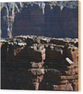 Grand Rock Wood Print