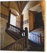 Grand Staircase 2 Wood Print by Mexicolors Art Photography