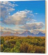 Grand Teton Fall Wood Print