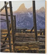 Grand Teton Framed Wood Print