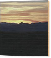Grand Teton Landscape Sunset Wood Print