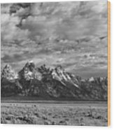 Grand Teton Majesty Wood Print by Sandra Bronstein