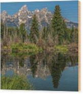 Grand Teton Range In Late Summer Wood Print