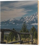 Grand Teton Signal Mountain Wood Print