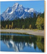 Grand Tetons 2 Wood Print by Carrie Putz