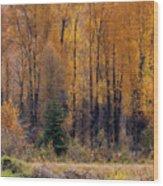 Grand Tetons Fall Wood Print