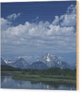 Grand Tetons In Spring Wood Print