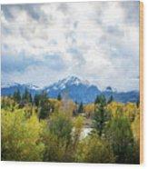Grand Tetons In The Fall Wood Print