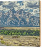 Grand Tetons National Park Wood Print