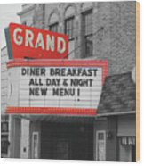 Grand Theatre Wood Print