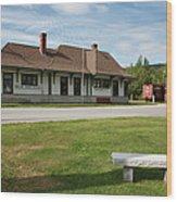 Grand Trunk Railroad - Gorham New Hampshire Wood Print