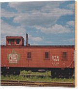 Grand Trunk Railroad Wood Caboose Wood Print