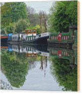 Grand Union Canal Cowley West London Wood Print