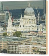 Grand View Of Central London Wood Print