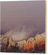 Grand View Of Sedona,arizona Wood Print