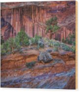 Grand Wash - Capitol Reef Wood Print