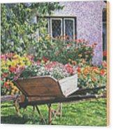 Grandad's Wheelbarrow Wood Print