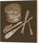Granddad's Tools Wood Print