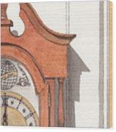 Grandfather Clock Wood Print