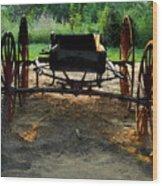 Grandfathers Buggy Wood Print