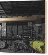Grandfathers Garage Wood Print