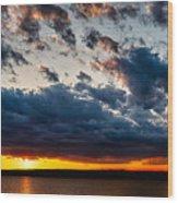 Grandiose Sky On Grand Lake Wood Print