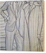 Grandma And Grandpa Albee Wood Print