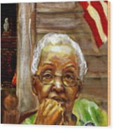 Grandma For Obama Wood Print by Gary Williams