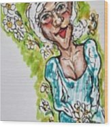 Grandma Hippie Wood Print