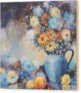 Grandmas Blue Pitcher Wood Print