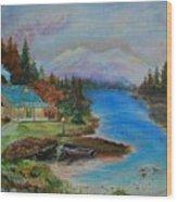 Grandmas Cabin Wood Print