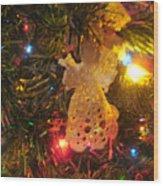 Grandmas Christmas Angel Wood Print