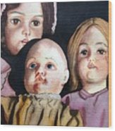 Grandma's Dolls Wood Print