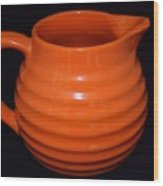 Grandmas Orange Juice Pitcher Wood Print