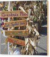 Grandma's Place Get Spoiled Here Wood Print
