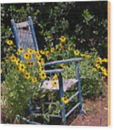 Grandma's Rocking Chair Wood Print