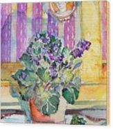 Grandmas' Violets Wood Print