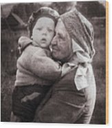 Grandmother And Child Wood Print