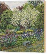 Grandmother's Garden Spring Blossoms Wood Print