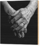 Grandmother's Hands Wood Print