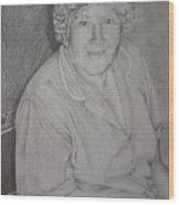 Grandmother's Portrait Wood Print