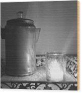 Grandmothers Vintage Coffee Pot Wood Print