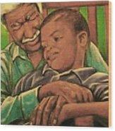 Grandpa And Me Wood Print