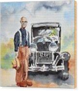 Grandpa's Chevy Wood Print