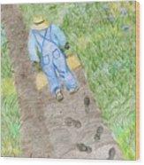 Grandpa's Footsteps Wood Print