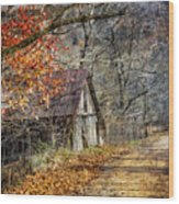 Grandpa's Old Barn Wood Print