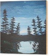 Grandpa's Piney Pond Wood Print