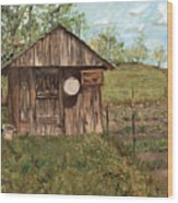 Grandpa's Smokehouse Wood Print