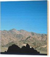Grandstand At Racetrack Playa Death Valley Wood Print