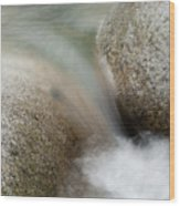 Granite And Water, Lynn Creek Wood Print